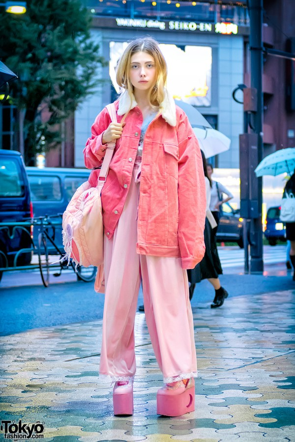 Russian Model Sheidlina in Harajuku