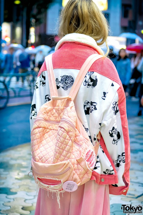 Pink Quilted Backpack by Letual