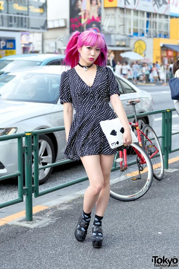 Harajuku Monster Girl w/ Pink Hair
