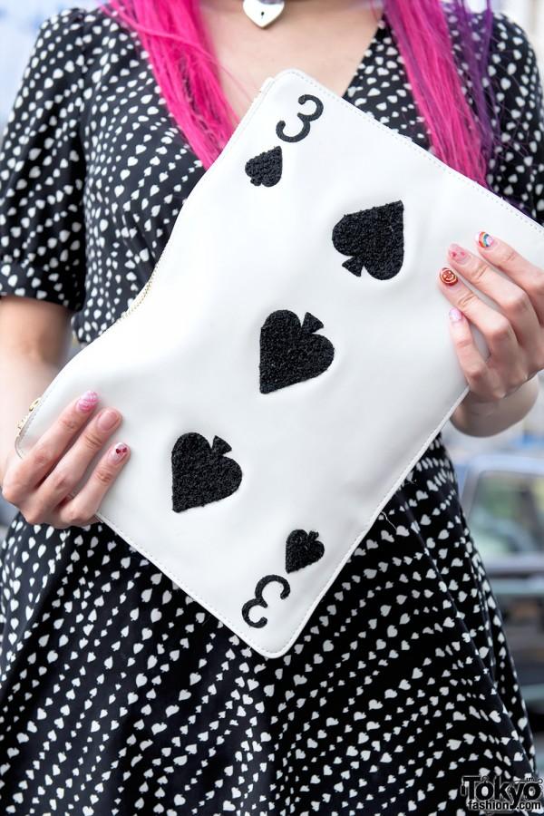 Playing Card Clutch Purse from WEGO Harajuku