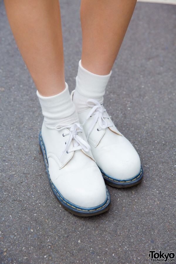 White Dr. Martens boots