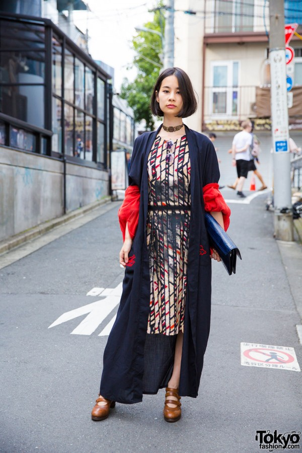 Harajuku Girl in Modern Vintage Style w/ Issey Miyake & Comme des Garcons