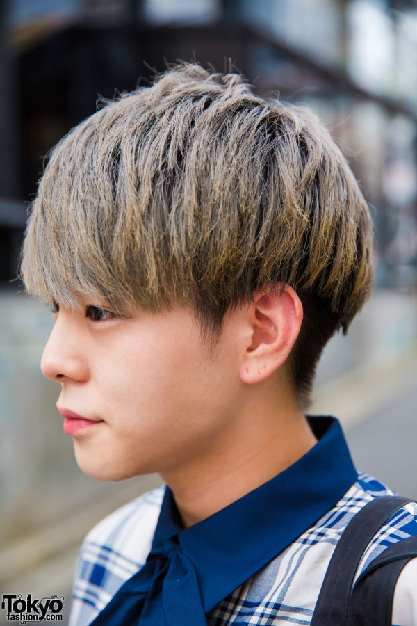 Blonde Men's Harajuku Hairstyle