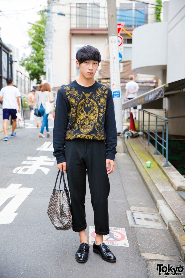 Alexander McQueen Street Style Fashion in Harajuku