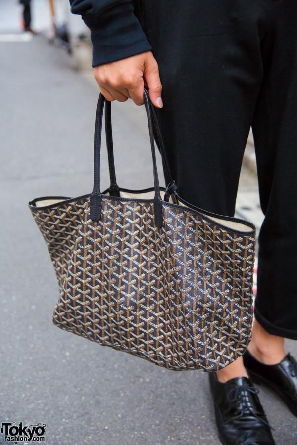 Prada Cuffed Pants & Goyard Bag