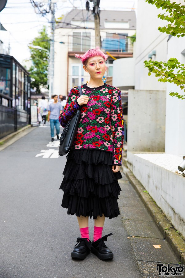 Floral Street Fashion by Comme Des Garcons
