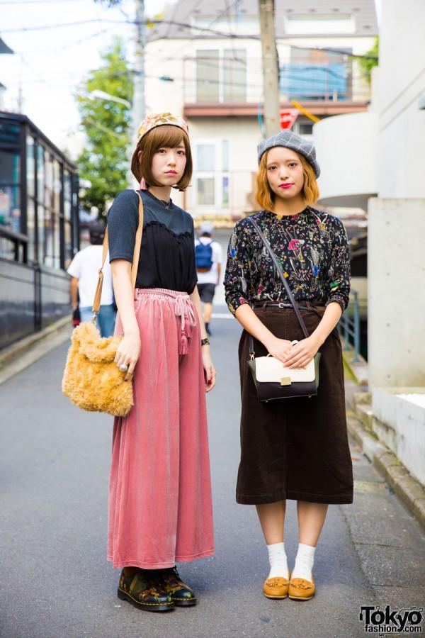 Harajuku Girls in Vintage Street Styles