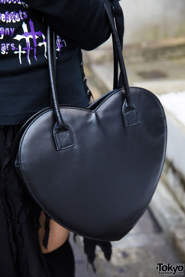 Black Heart Handbag
