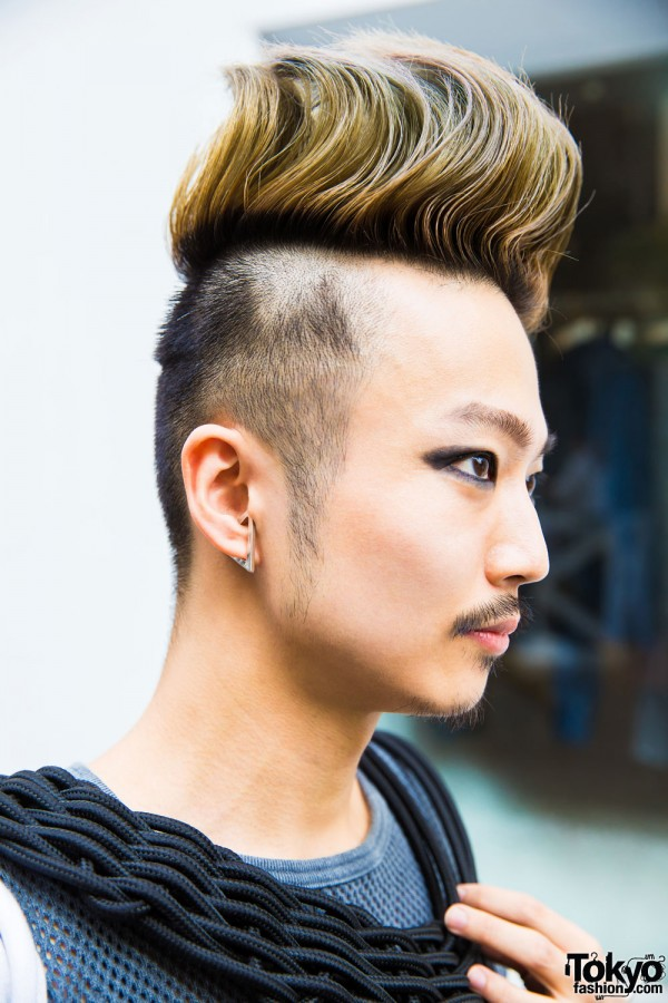 Teased Men's Hairstyle