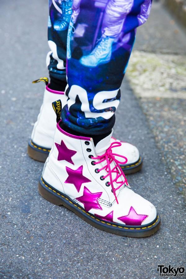 Dr. Martens Boots & Pink Laces