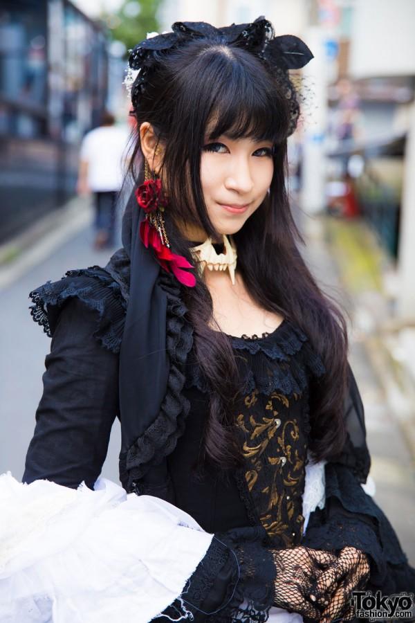 Chante Lace Dress & Gothic Corset