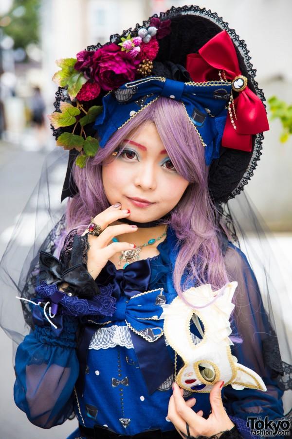 Anges et Demons Bonnet & Purple Hair