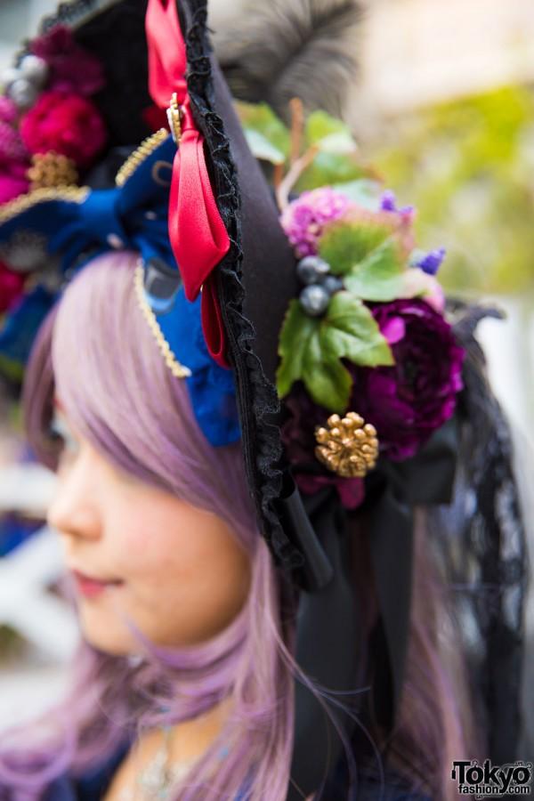 Anges et Demons Flower & Bows Bonnet