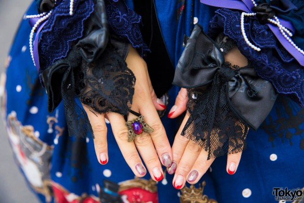 Lux Stellae Ring & Lace Finger Bracelet