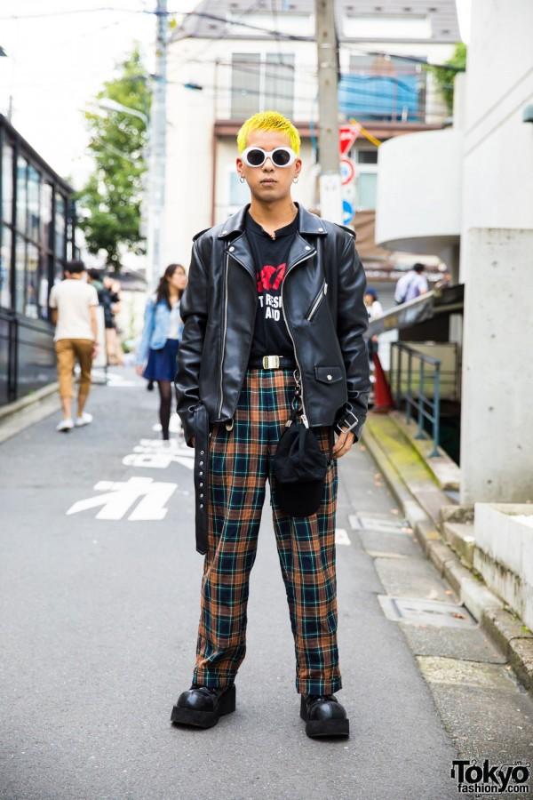 Harajuku Guy S Punk Inspired Street Style W Yellow Hair
