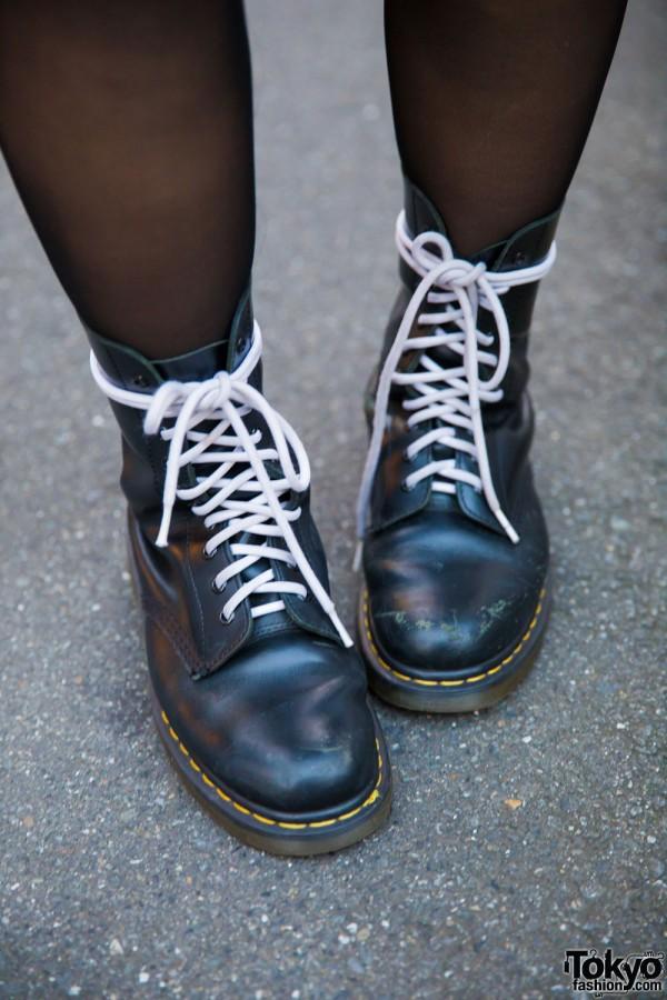 Dr. Martens Boots w/ White Laces