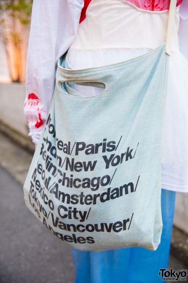 American Apparel Denim Tote Bag
