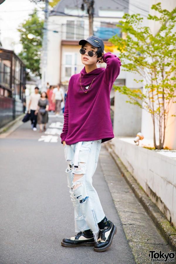 Harajuku Salon Model in Resale Fashion w/ G.V.G.V, Dr. Martens, Givenchy, Toga & Y.147