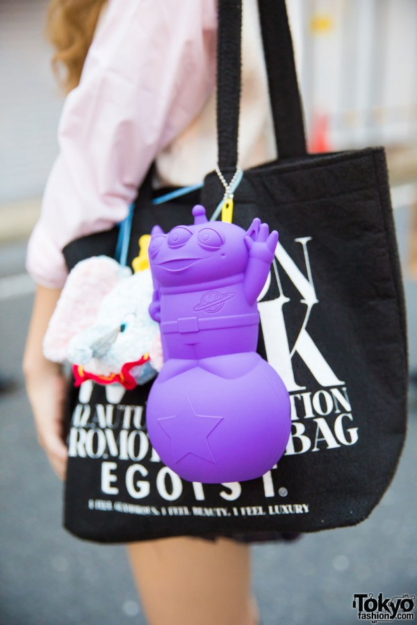 Tote Bag w/ Toy Keychains