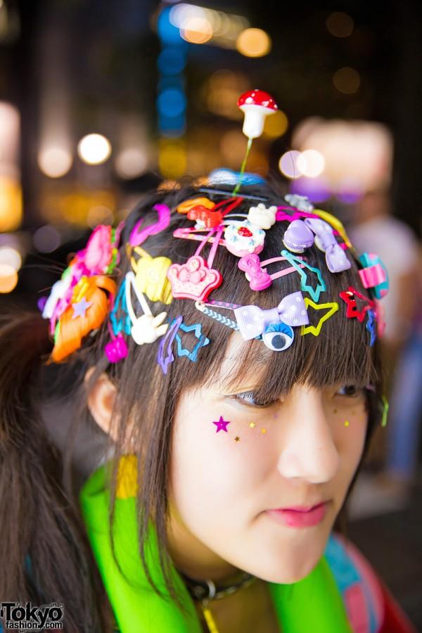 Decora Hair Clips, Harajuku
