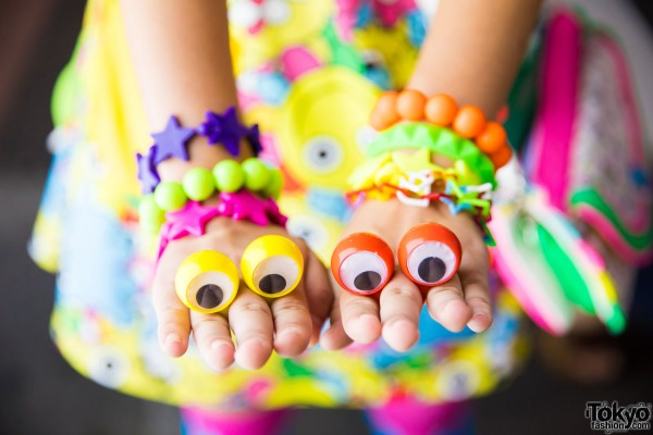 Colorful Bracelets & Googly Eyes Rings