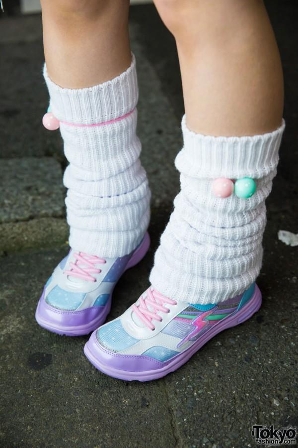 Loose Socks & Colorful Sneakers
