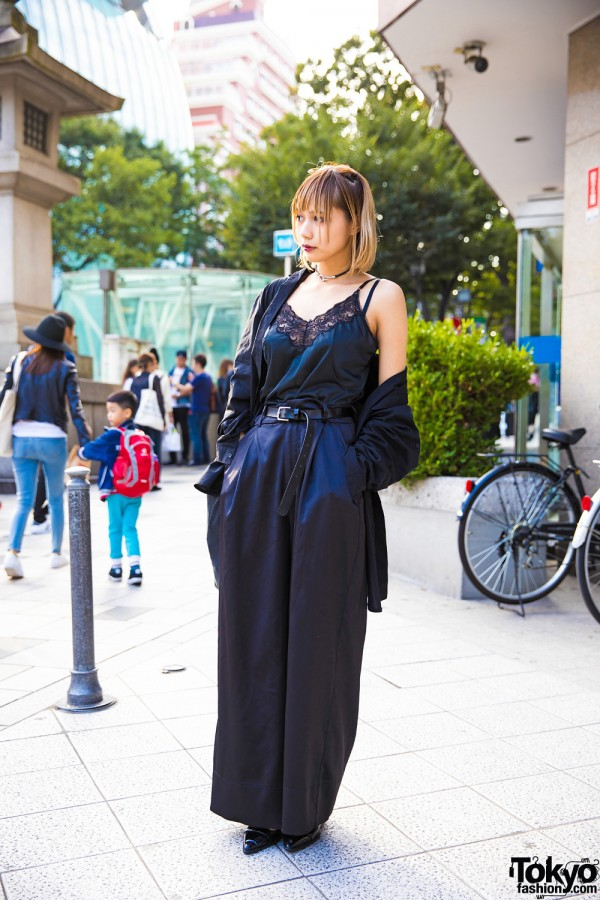 Harajuku Girl in All Black Fashion w/ Faith Tokyo, Vivienne Westwood & Vintage Items