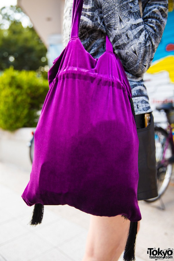 Used/Resale Purple Tote Bag