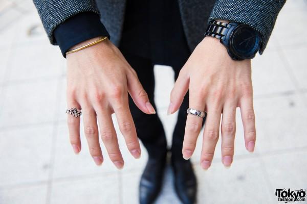 Karl Lagerfield Watch & Silver Rings