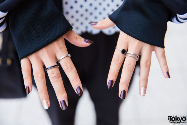 H&M Black and Silver Rings