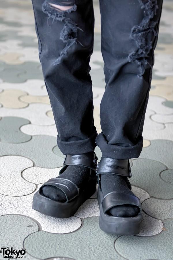 Tokyo Bopper Platform Sandals & Black Socks
