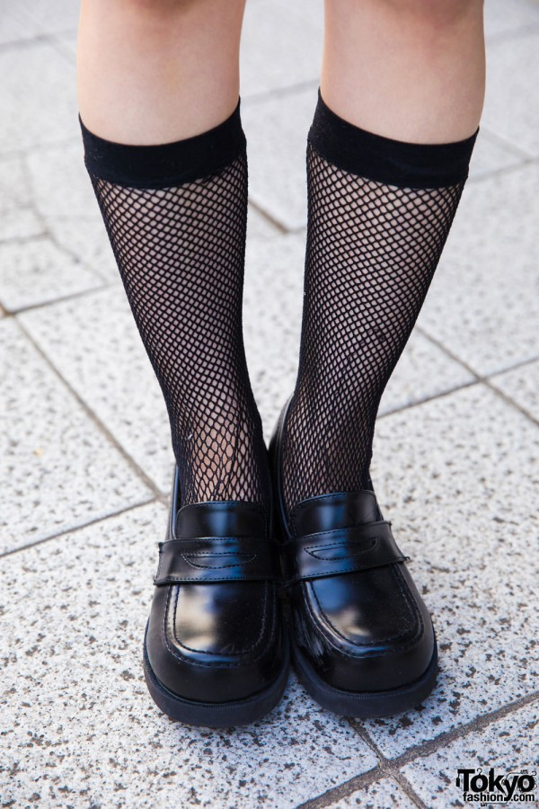 Net Socks & Platform Shoes
