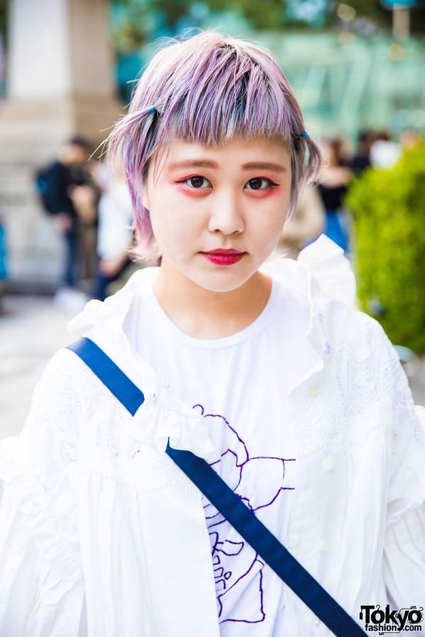 Mikio Sakabe Ruffle Shirt & Birdman T-shirt