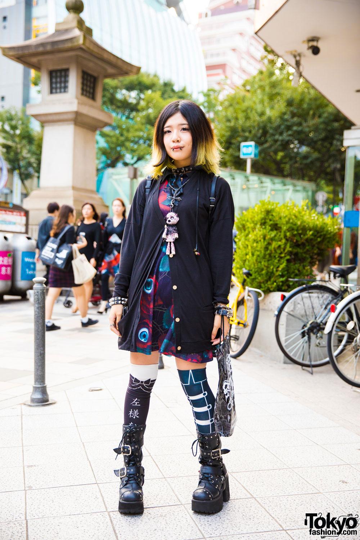 Harajuku Girl In Dark Style W/ Sexpot Revenge, Killstar