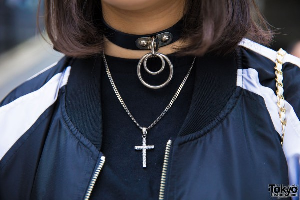 Never Mind the XU O-Ring Choker & Cross Necklace