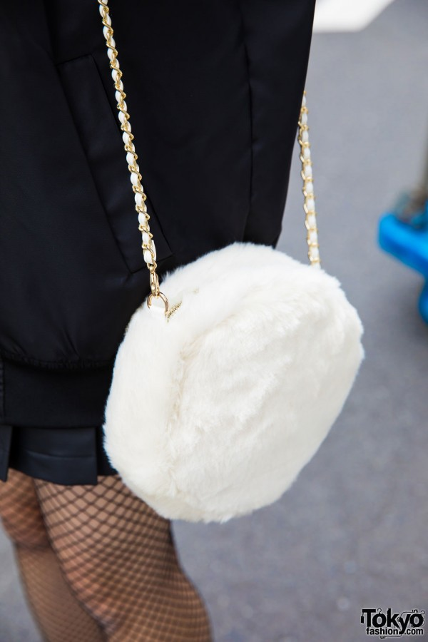 Furry Chain Purse