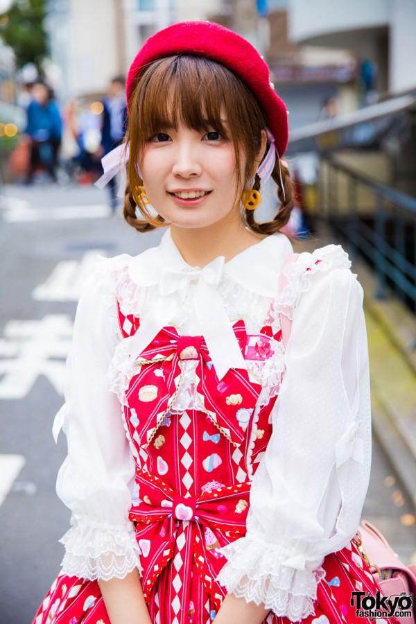 Angelic Pretty Blouse & Jumper Skirt