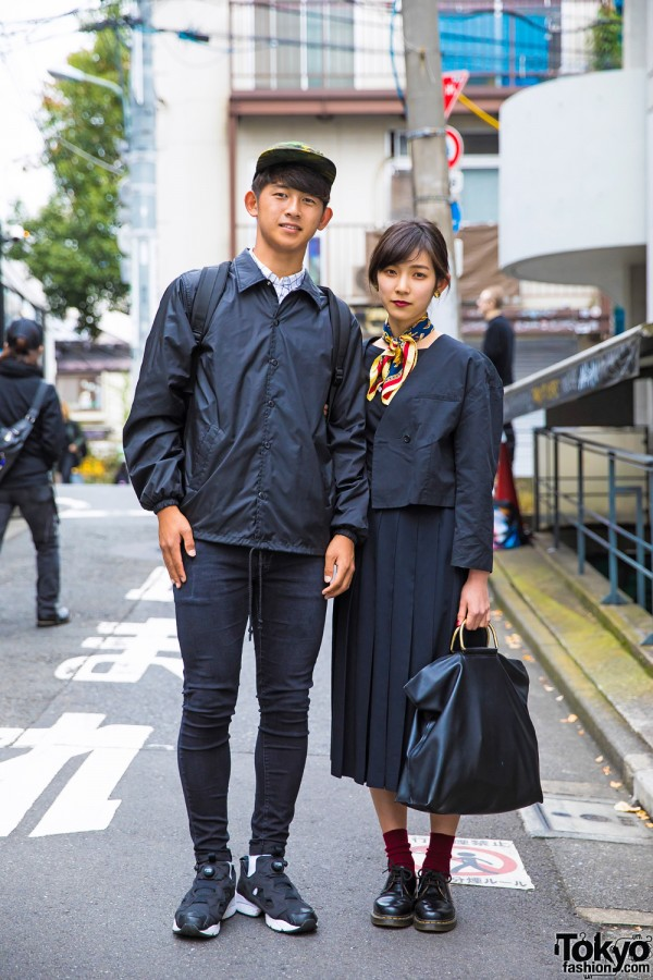 Black Minimalist Fashion in Harajuku
