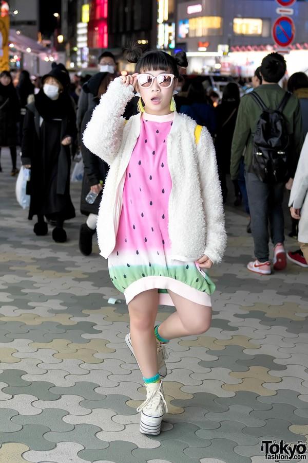 Tempura Kidz Karin in Harajuku w/ Kawaii Candy Stripper Dress, Vannie Tokyo & Resale Items