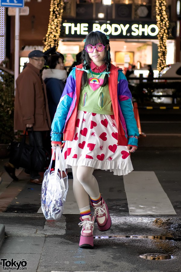 Harajuku Girl in Cheerful Street Style w/ 6%DOKIDOKI, Super Lovers & Dance With Devils