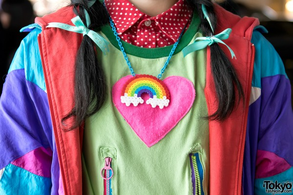 Yoshida Beads Rainbow Necklace