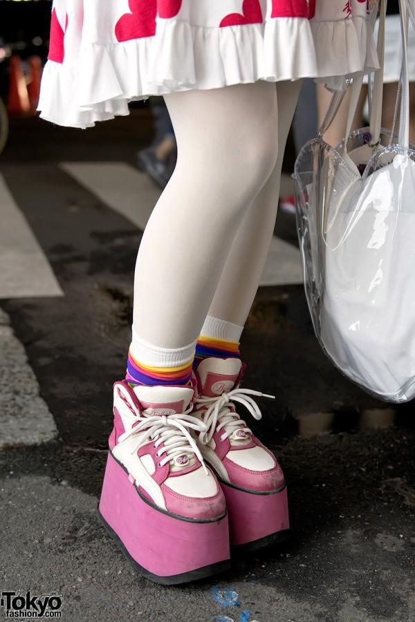 Pink Buffalo Platform Boots