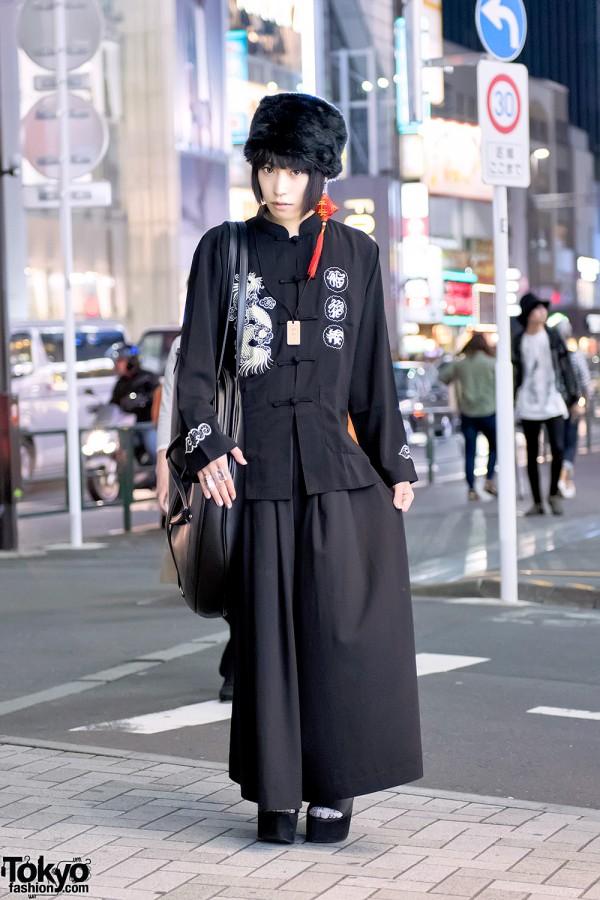 Harajuku Guy's All Black Style w/ Dolls Kill, UNIF & Vivienne Westwood