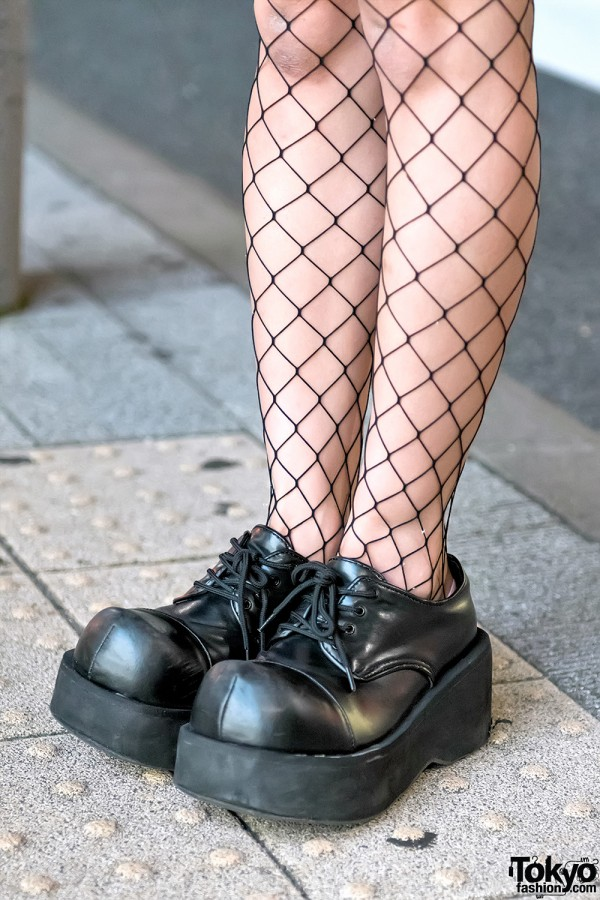 Fishnet Tights & Demonia Shoes
