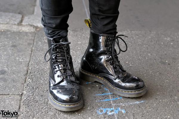 Dr. Martens Black Patent Boots