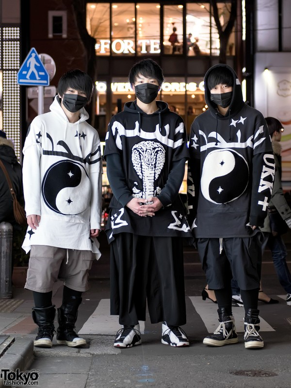 Monochrome Streetwear in Harajuku
