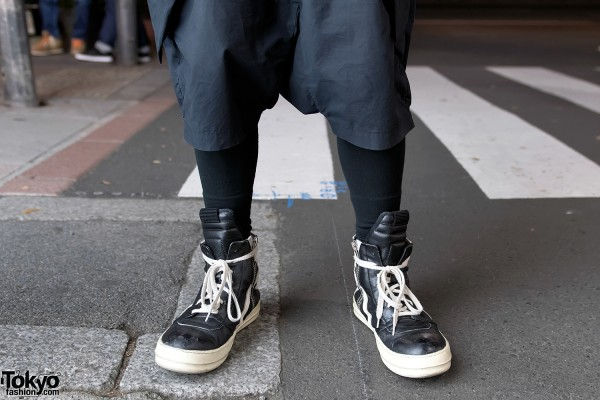 Rick Owens Sneakers & Shorts with Tights