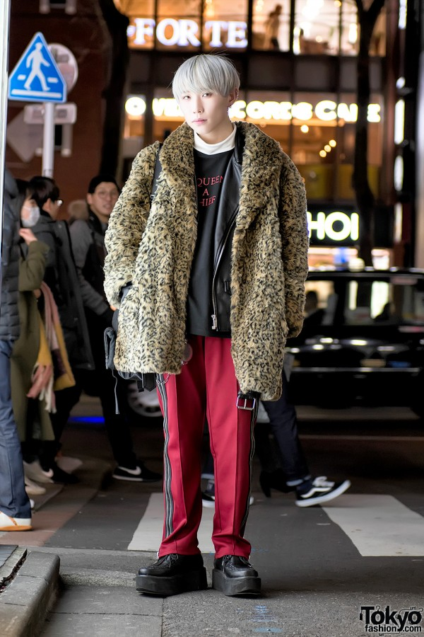 Harajuku Guy in Leopard Coat