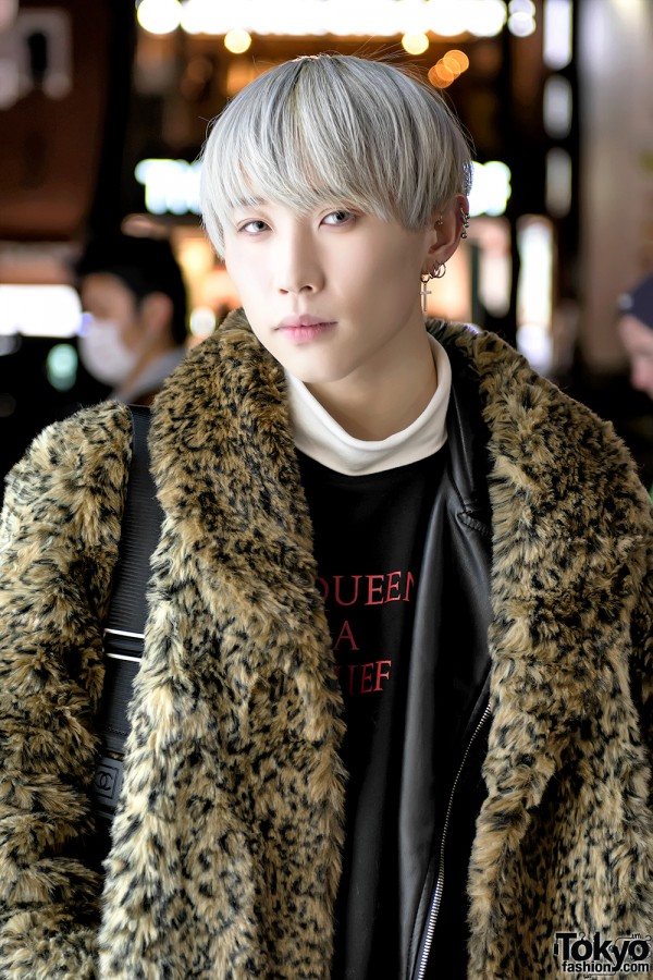 Harajuku Guy w/ Pastel Hair & Animal Print