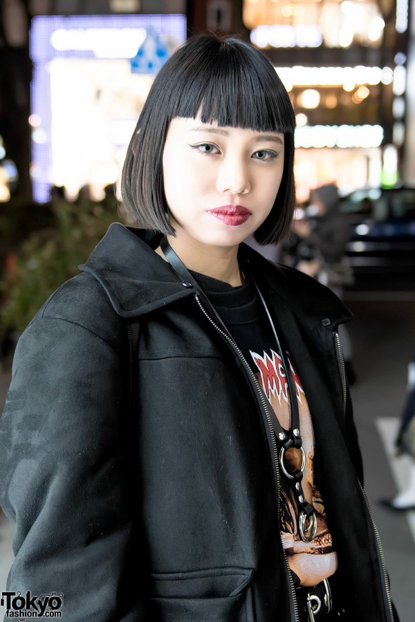 Harajuku Girl w/ Bob Hair & Marilyn Manson T-Shirt